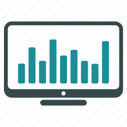 bar chart, desktop, diagram, monitor, monitoring, screen, stock market icon