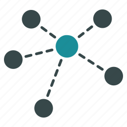 connections, internet, molecule, network, structure, virtual links, web icon
