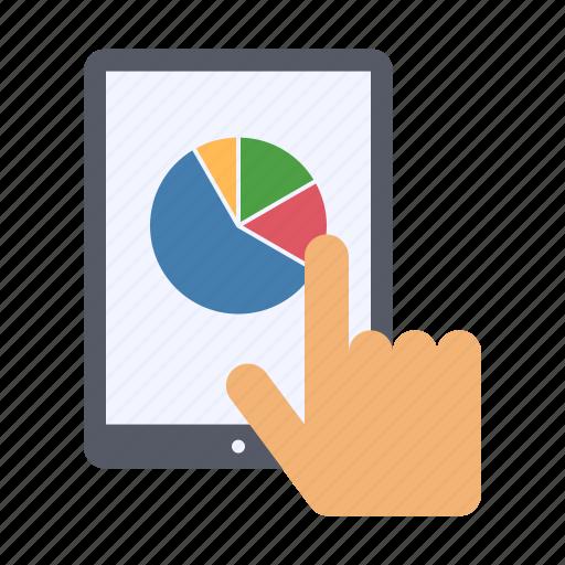 business analytics, data, pie chart, report icon