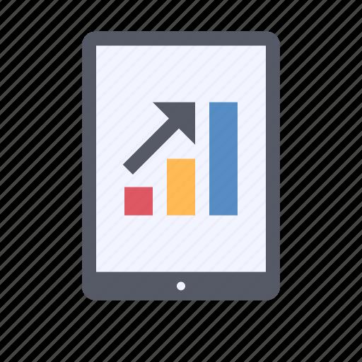 analytics, business data, chart, graph icon