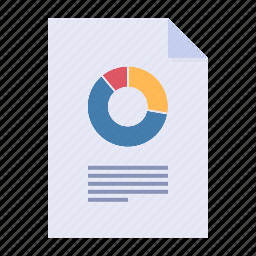 analytics, business report, data, pie chart icon