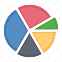 analytics, business data, pie chart, report icon