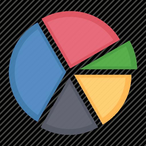 analytics, business data, pie chart, report icon
