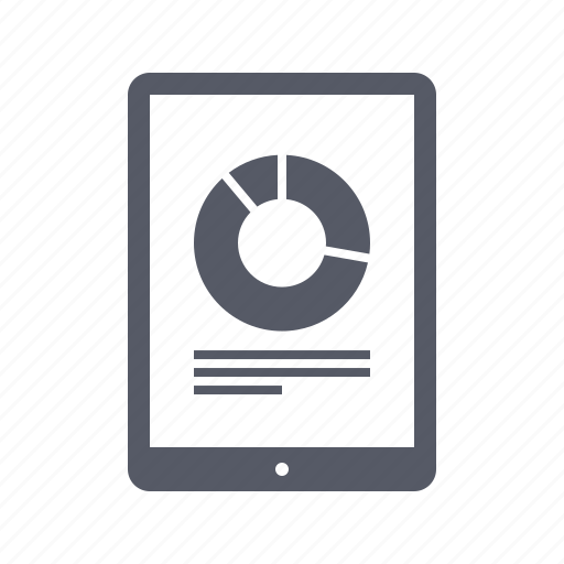 analytics, chart, report, tablet icon
