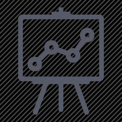 analysis, graph, presentation icon