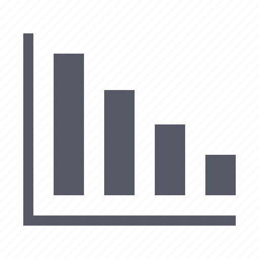 chart, decline, graph, statistics icon