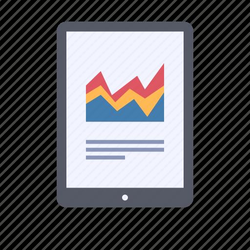 business data, graph, report icon