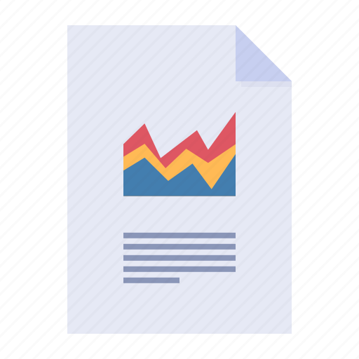 business graph, chart, data, report icon