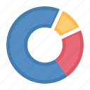 analytics, business report, data, pie chart icon
