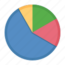 business, data, pie chart, report icon