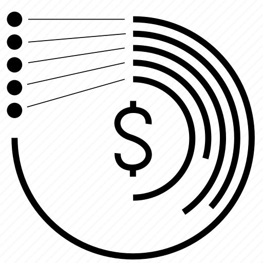 business, chart, circle, dollar, finance, graph, money, percent, pie, piechart, report, sector, statistics icon