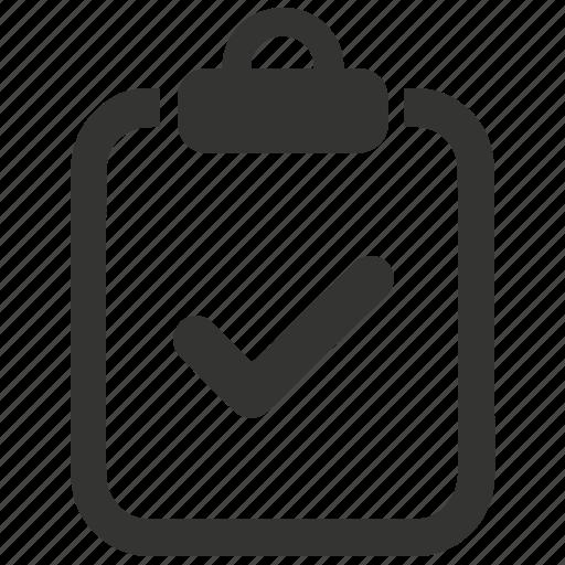 checklist, checkmark, clipboard, done, to do, verified icon