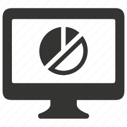 analysis, analytics, monitor, pie chart icon