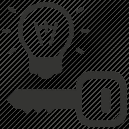 idea, key, key to success icon