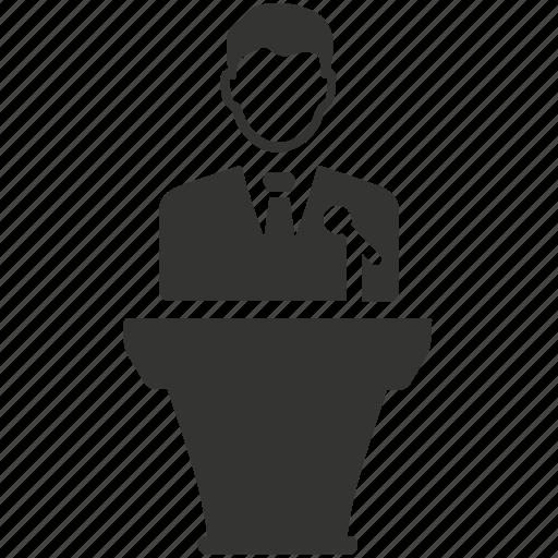 businees, conference, presentation icon