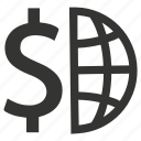 currency, dollar, global, international, money icon