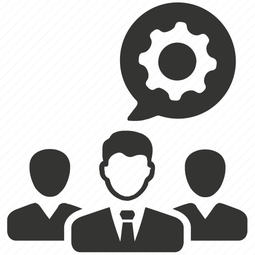 business team, collaboration, gear, team, team play, teamwork icon