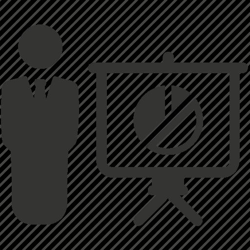 graph, pie chat, presentation, sales report icon