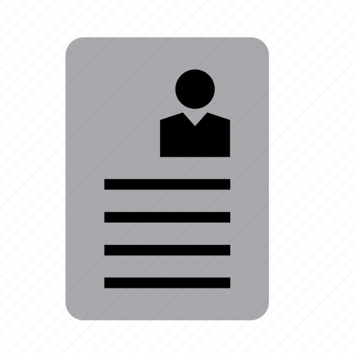 business, businessman, cv, job, resume, work, worker icon
