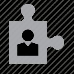 business, businessman, man, piece, puzzle, work, worker icon