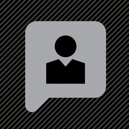 bubble, business, job, man, speech, work, worker icon