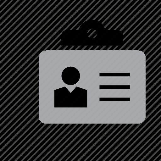 card, id, identification, identity, man, people, work icon
