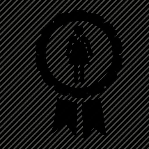 badge, business, businesswoman, human resources, job, management, manpower icon