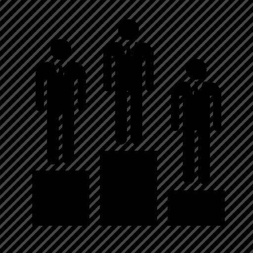 business, businessman, human, management, podium, resources, work icon