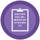 abc, checklist, list, notepad, paper icon