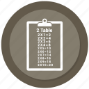 checklist, list, notepad, paper, table icon