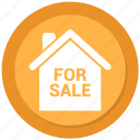 for, house, sale icon