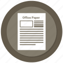 office, paper, pencil, stationery icon
