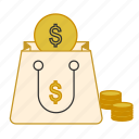 bag, business, finance, money, savings icon