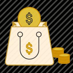 bag, business, finance, money, savings icon