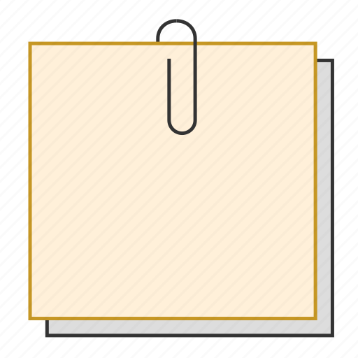 notes, office, paper pin, stationery, sticky notes icon