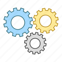 cog, engineering, mechanics, process, settings, wheel icon