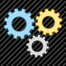 cog, engineering, mechanics, process, settings, wheel icon