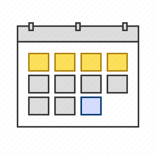 calendar, duration, month, planning, schedule icon