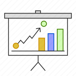 analytics, chart, goal, graph, presentation, report icon