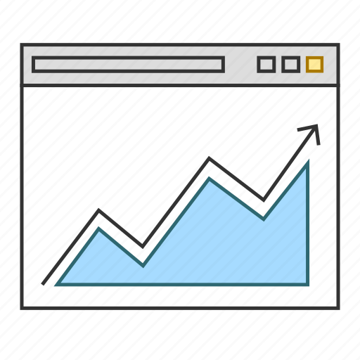 analytics, business, chart, graph, report, sucess icon