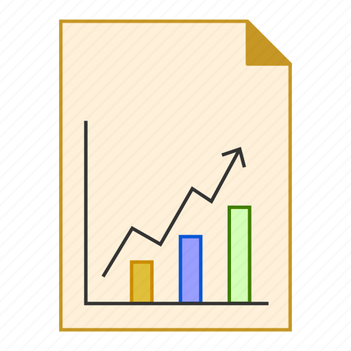 analytics, chart, document, file, graph, report icon
