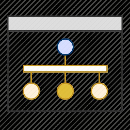 business, computing, hierarchy, organization, sharing, tree icon