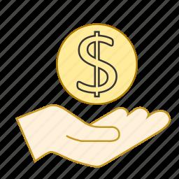 dollar, income, money, returns, savings icon