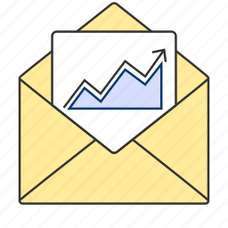 analytics, campaign, email, envelop, mail, marketing icon