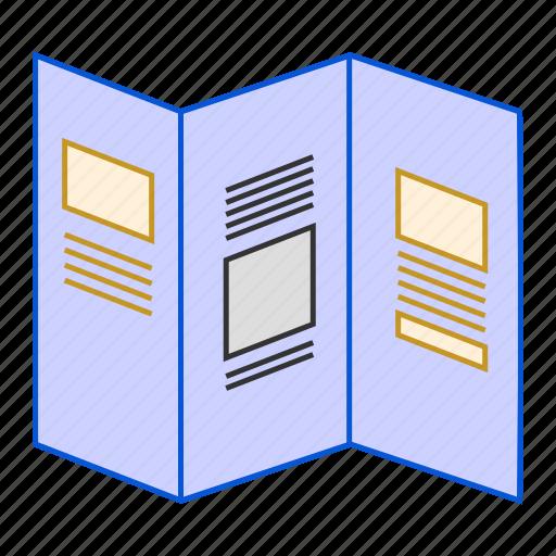 booklet, brochure, folded, information, leaflet, pamplet icon