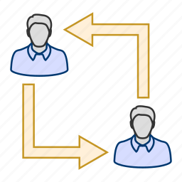 business, businessman, communication, connection, exchange, export import icon