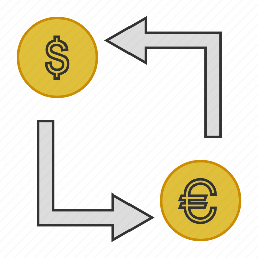 business, conversion, exchange, money, transfer icon