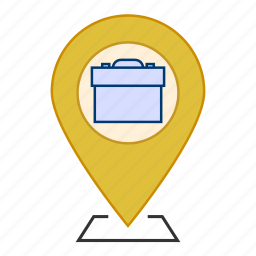 business, loccation, map, office location, pointer icon