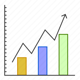 analytics, business, chart, graph, growth, sucess icon