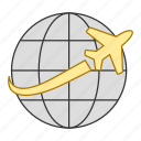 business, flight, tour, transportation, travel, trip icon